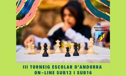 III Torneig Escolar d'Andorra sub12 i sub16 on-line
