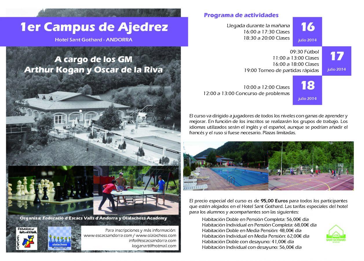 1r Campus d'Escacs d'Andorra