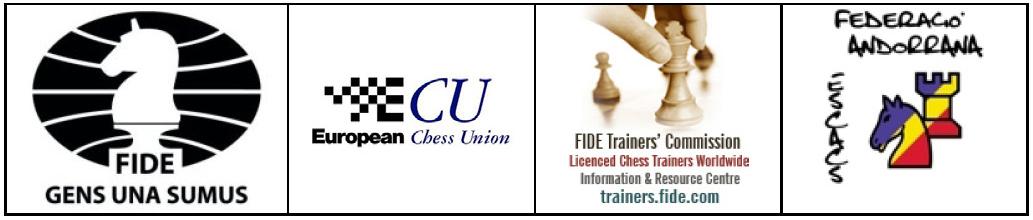 FIDE Trainers' Seminar – Andorra 2016