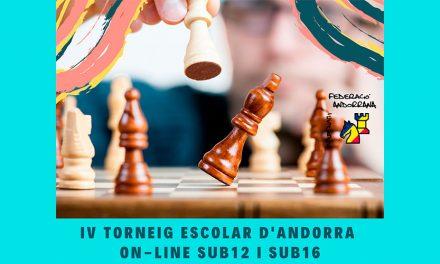 IV Torneig Escolar d'Andorra sub12 i sub16 on-line